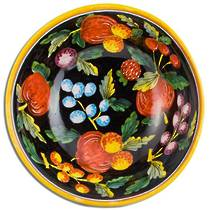 Hand-Painted Ceramics Zafiro Serving Bowl 200mm