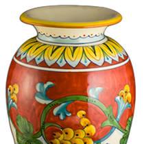 Italian Ceramics Corallo Vase