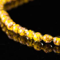 Murano Bead Necklace Corintia Yellow