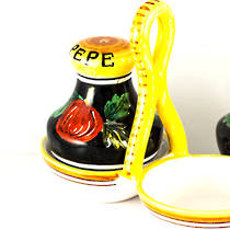 Italian Ceramics Zafiro Salt and Pepper Set