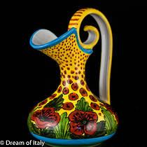 Hand-Painted Ceramics Papaveri Amphora Jug