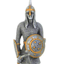 Pewter Warrior with Axe and Shield
