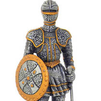 Pewter Warrior with Sword and Shield