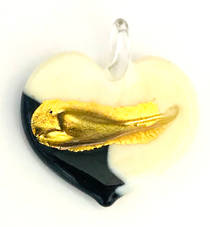 Murano Glass Heart Pendant 5
