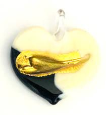 Murano Glass Heart Pendant 5