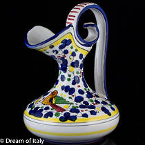 Hand-Painted Italian Ceramic Amphora Jug - Arabesque