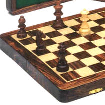 Wooden Folding Magnetic Chess Set 250x250x23
