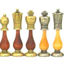Chess Pieces - metal/wood - King: 75mm