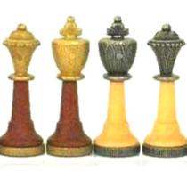 Chess Pieces - pewter/wood - King: 75mm