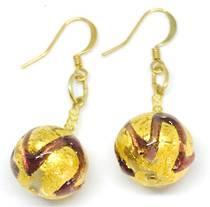 Murano Glass Bead Earrings Desdemona B