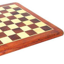 Inlaid Wooden Chess Board - Rosewood/Maple 460 x 460mm