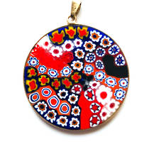 Murano Glass Pendant Millefiori 36mm 7