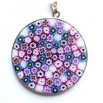 Murano Glass Pendant Millefiori 36mm 1