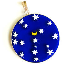 Murano Glass Pendant Millefiori 32mm Night Sky