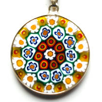 Murano Glass Pendant Millefiori 26mm 4