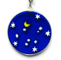 Murano Glass Pendant Millefiori 26mm Night Sky