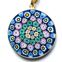 Murano Glass Pendant Millefiori 26mm 3