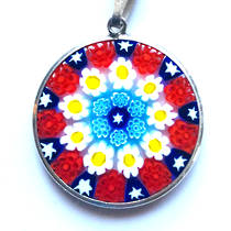 Murano Glass Pendant Millefiori 23mm 1