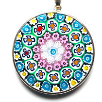 Murano Glass Pendant Millefiori 26mm 6