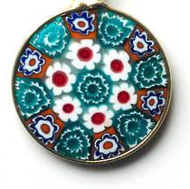 Murano Glass Pendant Millefiori 18mm 7