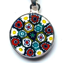 Murano Glass Pendant Millefiori 15mm 1