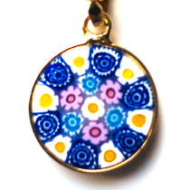 Murano Glass Pendant Millefiori 15mm 9