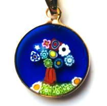 Murano Glass Pendant Millefiori 15mm Tree of Life