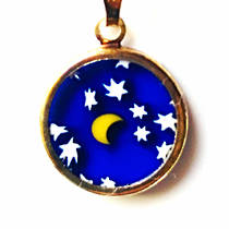 Murano Glass Pendant Millefiori 15mm Night Sky 2