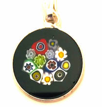 Murano Glass Pendant Millefiori 15mm 8