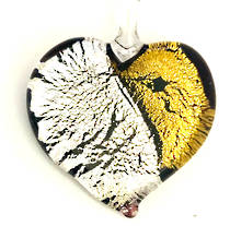 Murano Glass Heart Pendant 3