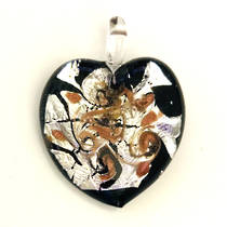 Murano Glass Heart Pendant 1
