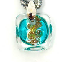 Murano Glass Pendant Martina Aqua