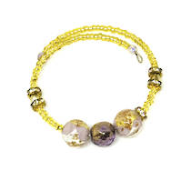 Murano Glass Bracelet - Lilac/Gold