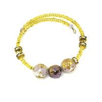 Murano Glass Bracelet - Lilac/Gold