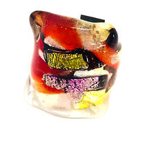 Murano Glass Millefiori Ring Brillante Red/White