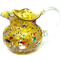 Murano Glass Fazzoletto Jug - Gold
