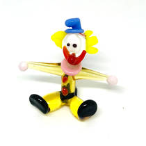 Murano Glass Clown - Miniature - Seated - 1