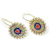 Murano Glass Millefiori Earrings (F)