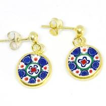 Murano Glass Millefiori Earrings (C)