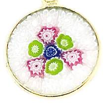 Murano Glass Pendant Millefiori 18mm 5