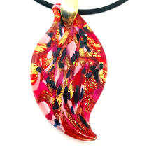 Murano Glass Pendant Caterina Red/Gold