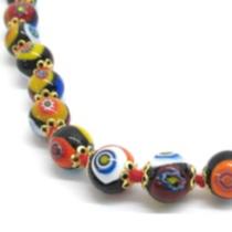 Nerida 8mm bead necklace - black