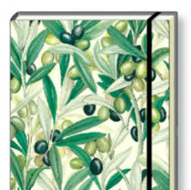 Italian Stationery Hard Back A5 Notebook - Olives