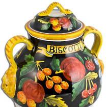 Hand-Painted Ceramics Zafiro Biscotti Jar