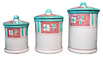 Hand-Painted Ceramics Caserta Canister set