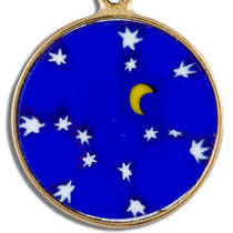 Murano Glass Pendant Millefiori 18mm Night Sky