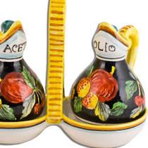 Hand-Painted Ceramics Zafiro Oil and Vinegar Set