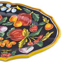Hand-Painted Ceramics Zafiro Oval Platter 500x350mm