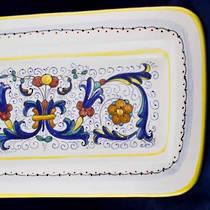 Hand-Painted Ceramics Ricco Deruta Oblong Platter