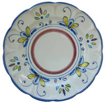 Hand-Painted Ceramics Salerno Side Plate
